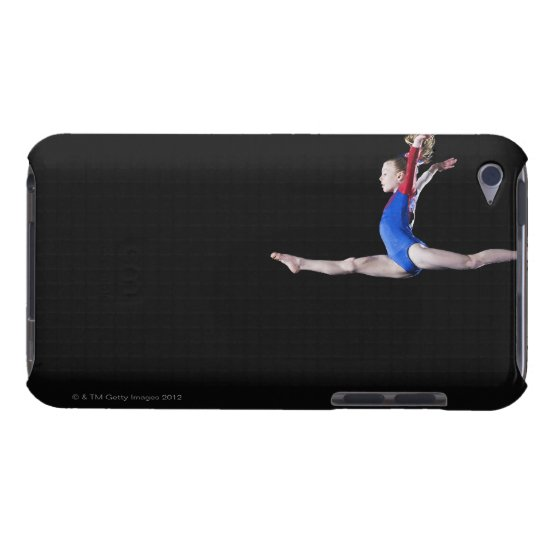 Gymnast (9-10) leaping on balance beam 2 iPod touch cover