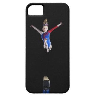 Gymnast (9-10) leaping on balance beam iPhone SE/5/5s case