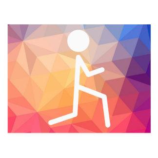 Gymnast Bendings Minimal Postcard