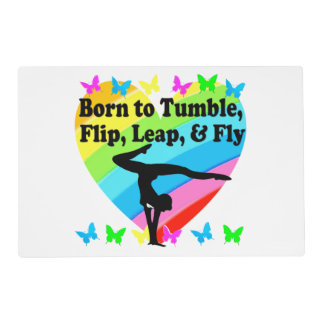 GYMNAST BORN TO TUMBLE AND FLY DESIGN PLACEMAT