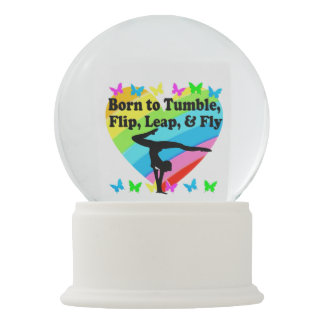 GYMNAST BORN TO TUMBLE AND FLY DESIGN SNOW GLOBE