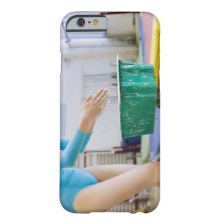 Gymnast chalking her hands barely there iPhone 6 case
