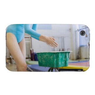 Gymnast chalking her hands iPhone 3 Case-Mate case