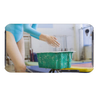 Gymnast chalking her hands iPod touch case