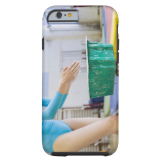 Gymnast chalking her hands tough iPhone 6 case