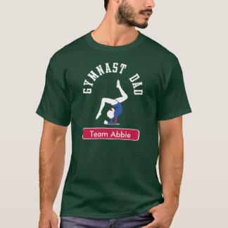 Gymnast Dad Custom Dark T-Shirt