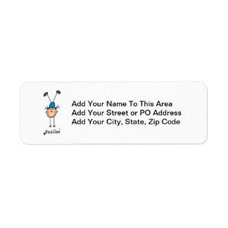 Gymnast Doing Handstands Label