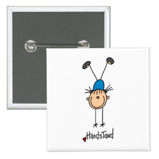 Gymnast Doing Handstands Pinback Button