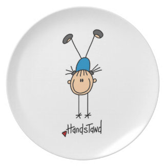 Gymnast Doing Handstands Party Plate