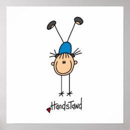 Gymnast Doing Handstands Poster