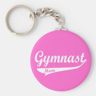 Gymnast Family Swoosh Female Basic Round Button Keychain