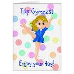 Gymnast Girl Birthday Card