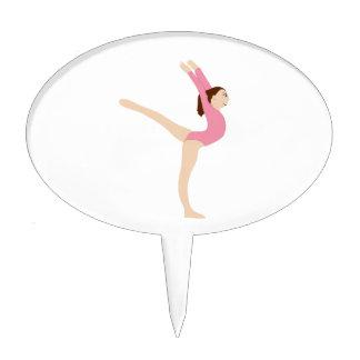 Gymnast Girl Cake Picks