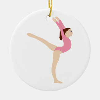 Gymnast Girl Ceramic Ornament