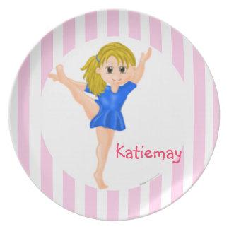 Gymnast Girl Plate