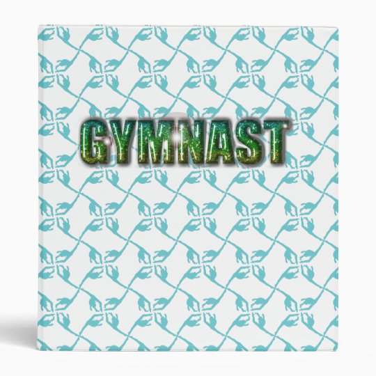 Gymnast Glitter Pattern Binder