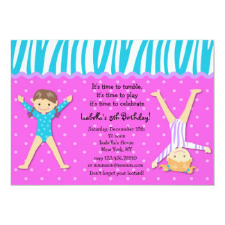 Gymnast Gymnastic Birthday Party Invitations