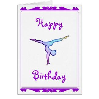 """Gymnast """"Happy birthday"""" card"""