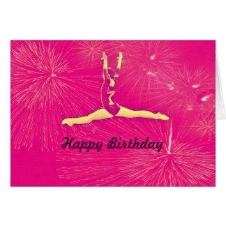 Gymnast Happy Birthday card