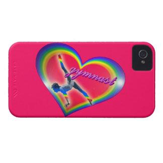 Gymnast Heart Rainbow iPhone 4 Case