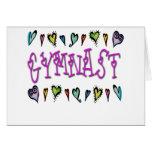 Gymnast hearts card
