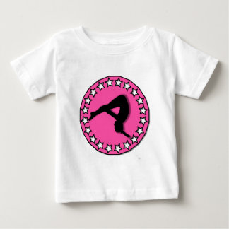 Gymnast in pink baby T-Shirt