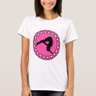 Gymnast in pink T-Shirt