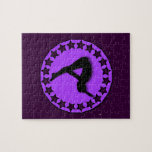 Gymnast in purple 8x10 Photo Puzzle with Tin