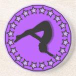 Gymnast in purple coaster