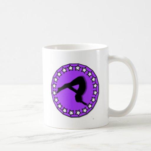 Gymnast in purple coffee mug