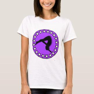 Gymnast in purple T-Shirt