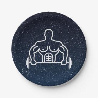 Gymnast Instructors Symbol 7 Inch Paper Plate