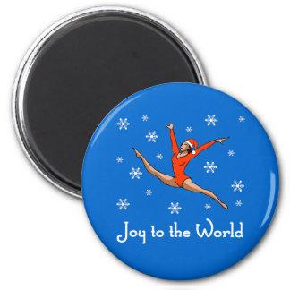 Gymnast Joy to the World 2 Inch Round Magnet