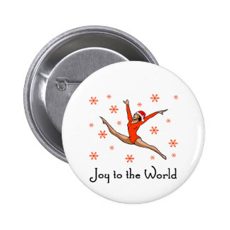 Gymnast Joy to the World Button