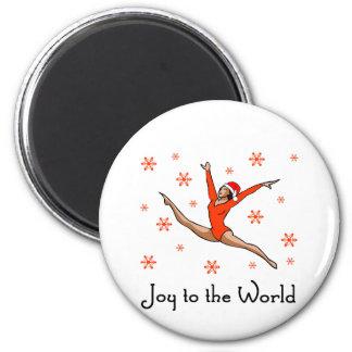 Gymnast Joy to the World Refrigerator Magnet