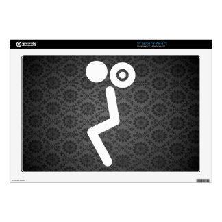 Gymnast Liftings Pictogram Skins For Laptops