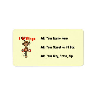 Gymnast Loves Rings Personalized Address Labels