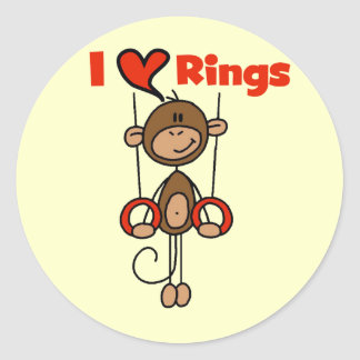 Gymnast Loves Rings Tshirts and Gifts Round Sticker