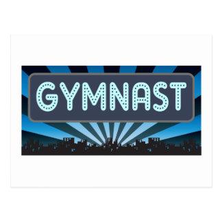 Gymnast Marquee Postcard