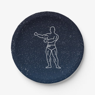 Gymnast Muscles Minimal 7 Inch Paper Plate