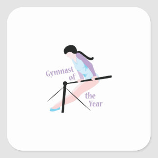 Gymnast Of Year Square Sticker