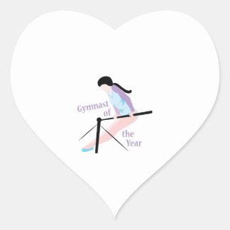 Gymnast Of Year Heart Sticker