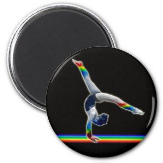 Gymnast on a Rainbow Beam 2 Inch Round Magnet