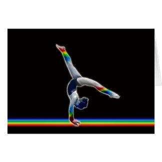 Gymnast on a Rainbow Beam Card