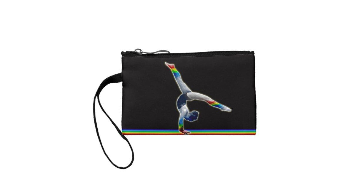 Gymnast on a Rainbow Beam Coin Purse | Zazzle com
