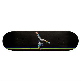 Gymnast on a Rainbow Beam Skate Deck