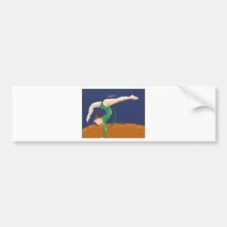Gymnast on Balance Beam Art Bumper Sticker