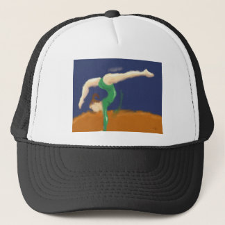 Gymnast on Balance Beam Art Trucker Hat