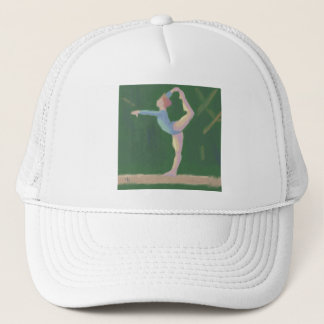 Gymnast on Balance Beam, Hat
