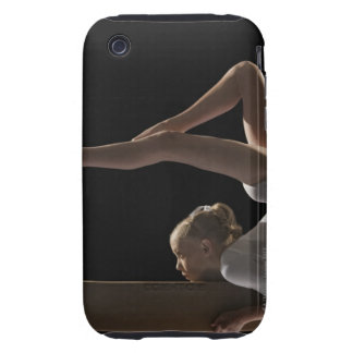 Gymnast on balance beam iPhone 3 tough cover
